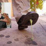 Policía de Bogotá retirará chicles pegados en el suelo