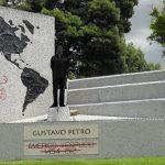 Sorpresivo cambio en el monumento a Américo Vespucio en Bogotá