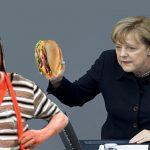 Ángela Merkel le negó una torta de jamón al Chavo del ocho