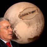 """Llegada de nave a Plutón es obra de la Far"", Uribe"