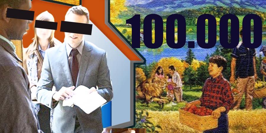 Los testigos de Jehová timbraron 30 segundos después de la entrega de la casa número 100.000