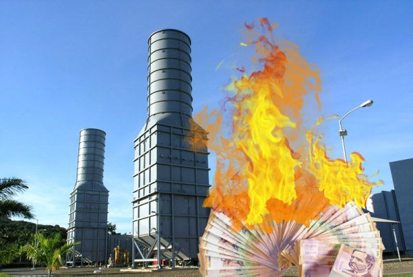 Las termoeléctricas confiesan que literalmente quemaron billones de pesos